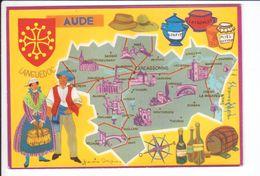 CP N° 4 - Les Départements Français Vus Par Iris : AUDE - France