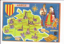 CP N° 4 - Les Départements Français Vus Par Iris : ARIEGE - France