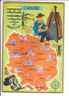 CP N° 4 - Les Départements Français Vus Par Iris : CREUSE - France
