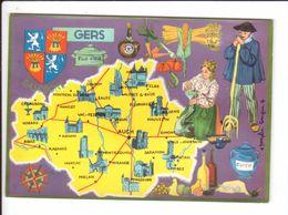 CP N° 4 - Les Départements Français Vus Par Iris : GERS - France