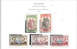 Ecuador PA 1949 Cervantes Montalvo Scott.C202/206+ See Scans On Scott.Page - Ecuador