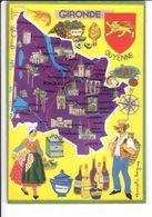 CP N° 4 - Les Départements Français Vus Par Iris : GIRONDE - France