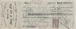 75 18 956 PARIS SEINE 1906 Edition Photomecanique L. L. Photos Photo LEVY ET SES FILS Rue Letellier - Lettres De Change
