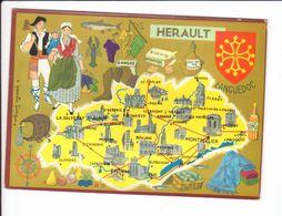 CP N° 4 - Les Départements Français Vus Par Iris : HERAULT - France
