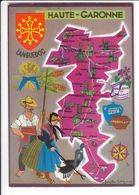 CP N° 4 - Les Départements Français Vus Par Iris : HAUTE-GARONNE - Unclassified
