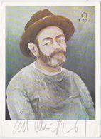 GERMANY 1978 ART PC CURT MÜHLENHAUPT (Self Portrait) AUTOGRAPHED - Otros