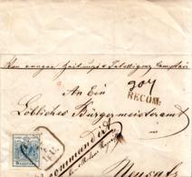 REGISTERED CVR TO NEUSATZ 1853 - 1850-1918 Imperium