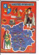 CP N° 4 - Les Départements Français Vus Par Iris : HAUTE-PYRENEES - France