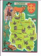 CP N° 4 - Les Départements Français Vus Par Iris : LOZERE - France