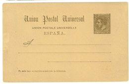 SPAGNA - INTERO POSTALE  - UPU U.P.U. ANNO 1884 - NON VIAGGIATO - 15 CENTIMOS - Interi Postali