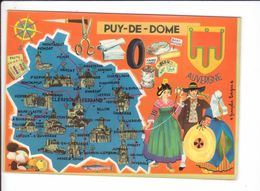 CP N° 4 - Les Départements Français Vus Par Iris : PUY-DE-DOME - Unclassified