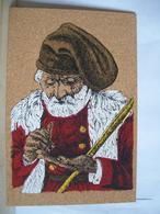 Sassari - Costumi Sardi - Tamponi Persico Calangianus - Cartolina Di Sughero - Costume - 2 Scans. - Cartoline