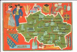 CP N° 4 - Les Départements Français Vus Par Iris : ALLIER - Unclassified