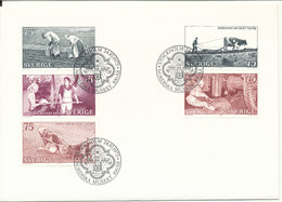 Sweden FDC 24-10-1973 Centenary Of The Nordic Museum Complete Set Of 5 - FDC