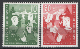 Germania 1952 Unif. 39/40 **/MNH VF - Unused Stamps