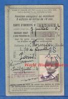Carte D'identité Chemin De Fer Alsace Lorraine EST Midi Nord PLM ... - 1924 - Claude Wormser Paris Train - Transportation Tickets