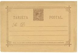 SPAGNA - INTERO POSTALE  - TARJETA POSTAL ANNO 1889/90 - NON VIAGGIATO - 10 CENTIMOS - Interi Postali
