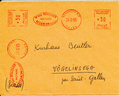 France Cover With Meter Cancel Besancon 24-12-1965 (M Guy Beaussier NOTAIRE) - France
