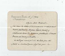 CONSTANS (JEAN ANTOINE ERNEST) 1833 BEZIERS 1913 PARIS POLITICIEN FRANCAIS ADM COLONIAL FRANC MACON CARTON SIGNE 1904 - Autographes