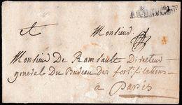 """1741. GUERRA DE SUCESIÓN DE AUSTRIA. ENVUELTA CIRCULADA A PARIS. MARCA """"AR. BAVIERE"""". MUY RARA. - Marcofilia (sobres)"""