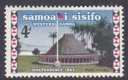 Samoa SG 259 1965 Independence Kawa Bowl Watermark, Four Pence, Mint Hinged - Samoa