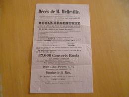 Publicité Fin XIXème Melleville Marseille Ruolz Argenture Rue Cannebière Et Paradis - Advertising