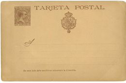 SPAGNA - INTERO POSTALE  - TARJETA POSTAL ANNO 1890/93 - NON VIAGGIATO - 10 CENTIMOS - II° SCELTA - Interi Postali