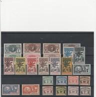 SENEGAL  SERIE PALMIERS COMPLETE AVEC TAXE  MH*  TB  COTE: 475 EUROS - Senegal (1887-1944)