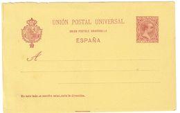 SPAGNA - INTERO POSTALE  - UPU U.P.U. ANNO 1890/93 - NON VIAGGIATO - 10 CENTIMOS - Interi Postali
