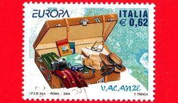 ITALIA - Usato - 2004 - Europa - 49ª Emissione - Valigia Aperta - 0,62 - 6. 1946-.. Repubblica