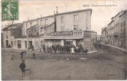 FR34 MEZE - Boulevard Et Quai Du Port - Café Du Port - Animée - Belle - Mèze