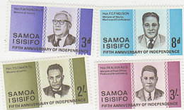 Samoa SG 274-277 1967 5th Anniversary Of Independence - Samoa