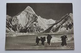 Kyrgyzstan. Tian Shan Mountains. Khan Tengri  - Old USSR Postcard 1956 - Mountaineering ALPINISM - Kyrgyzstan