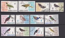 Samoa SG 280-289b 1967 Decimal Currency, Birds, Used - Samoa