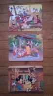 Lot De 3 Cartes Postales Vierges DISNEYLAND - Disneyland