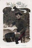 83Ve  Carte Photo Soldat Montage Surréalisme Ph. Labbé à Nice Etienne Paul Oraison Ou Lurs 04 ? - Uniformen