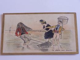 La Pêche Aux Moules - Homme En Mettant Un Autre Dans Son Epuisette Et Femme - Sonstige
