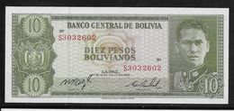 Bolivie -  10 Pesos - Pick N°154 - Neuf - Bolivie
