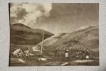 Kyrgyzstan. Tian Shan Mountains.  New Village - Old USSR Postcard 1956 - Mountaineering - Kyrgyzstan