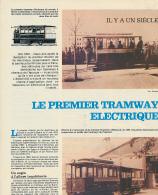 1981 : Document, LE PREMIER TRAMWAY ELECTRIQUE, Berlin-Lichterfelde, Francfort-Offenbach, Vevey-Montreux, Siemens... - Vieux Papiers