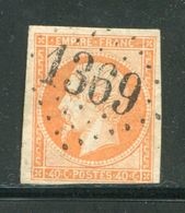 Y&T N°16- Gros Chiffre 1369 - Marcofilie (losse Zegels)