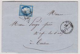 Cérès N° 60 A Position 79 G3 GC 3822 St Pons Sur Lettre 2 Scans - 1871-1875 Cérès