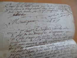 Grande Armée Copie Lettre Vaulfrelaud Au Maréchal De France Neufchatel Original D'époque Austerlitz - Documents