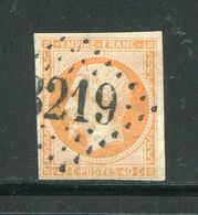 Y&T N°16- Gros Chiffre 3219 - Marcophilie (Timbres Détachés)