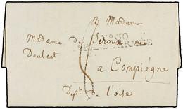 """1808. MALIRSCH (Malrah?, ALEMANIA). MARCA """"Nº 30/GRANDE ARMÉE"""" EN NEGRO. - Marcofilia (sobres)"""
