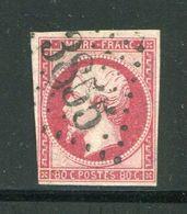 Y&T N°17B- Gros Chiffre 3855 - Marcophilie (Timbres Détachés)