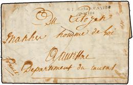 """1801. MONTEVARCHI A FRANCIA. FRANCE. MARCA """"ARM. D'OBSERVATION/DU MIDI"""". RARA. - Marcofilia (sobres)"""