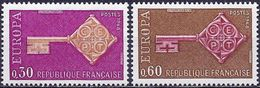 France 1968 - Mi 1621/22  - YT 1556/57 ( Europa CEPT ) MH* - France