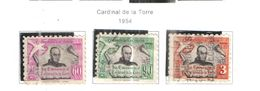 Ecuador PA 1954 Cardinal De La Torre Scott.C253/255 See Scans On Scott.Page - Equateur