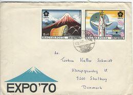 EXPO`70. Hungary - Cover Sent To Denmark.  # 655 # - 1970 – Osaka (Japan)